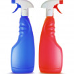 Spray Bottles — Stock Photo