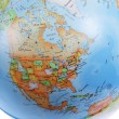 North America on Globe — Stock Photo