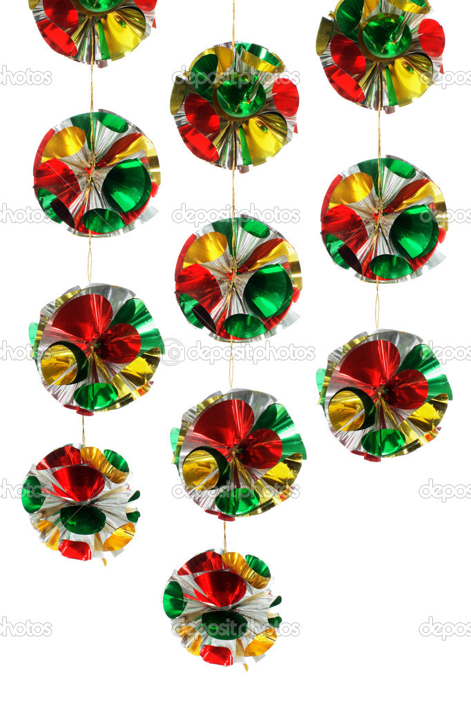 Christmas Decorations on White Background — Stock Photo #6739744