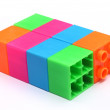 Colorful plastic toy bricks — Stock Photo