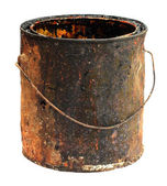 Old grungy bucket — Stock Photo