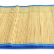 Natural straw made floor mat - Stock Photo