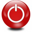 Computer generated power button — Stock Photo #6213248
