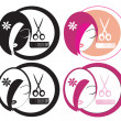 Stock Photo: Hairdressing LOGOs