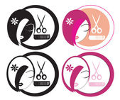 Hairdressing LOGOs — Stock Photo