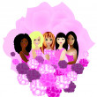 Women of different ethnicities together — Stock Photo