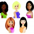 Women of different ethnicities — Stock Photo
