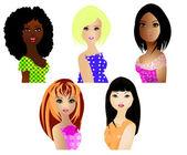 Women of different ethnicities — Stock Photo