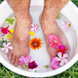 Male foot spa — Stock Photo