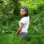 Teenage girl in park — Stock Photo