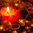 Stock Photo: New year candle decoration
