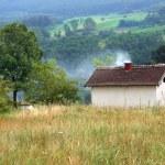 Rural landscape Serbia — Stock Photo