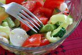 Appetizing vegetable salad — Stock Photo