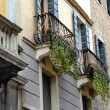 Balconies and building exterior in Padua - Stock Photo