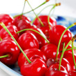 Appetizing red cherries — Stock Photo