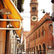 Stock Photo: the tower lamberti in verona