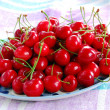 Appetizing red cherries — Stockfoto