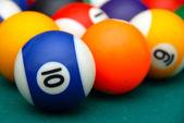 Billiards balls — Stock Photo