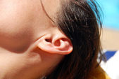 Ear closeup — Stock Photo