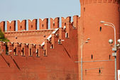 莫斯科克里姆林宫墙片段 — 图库照片