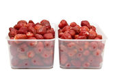 The ripe strawberries in two boxes_1 — Stock Photo