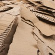 Royalty-Free Stock Photo: Corrugated cardboard torn pile
