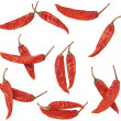 Dry red pepper on white background — Stock Photo