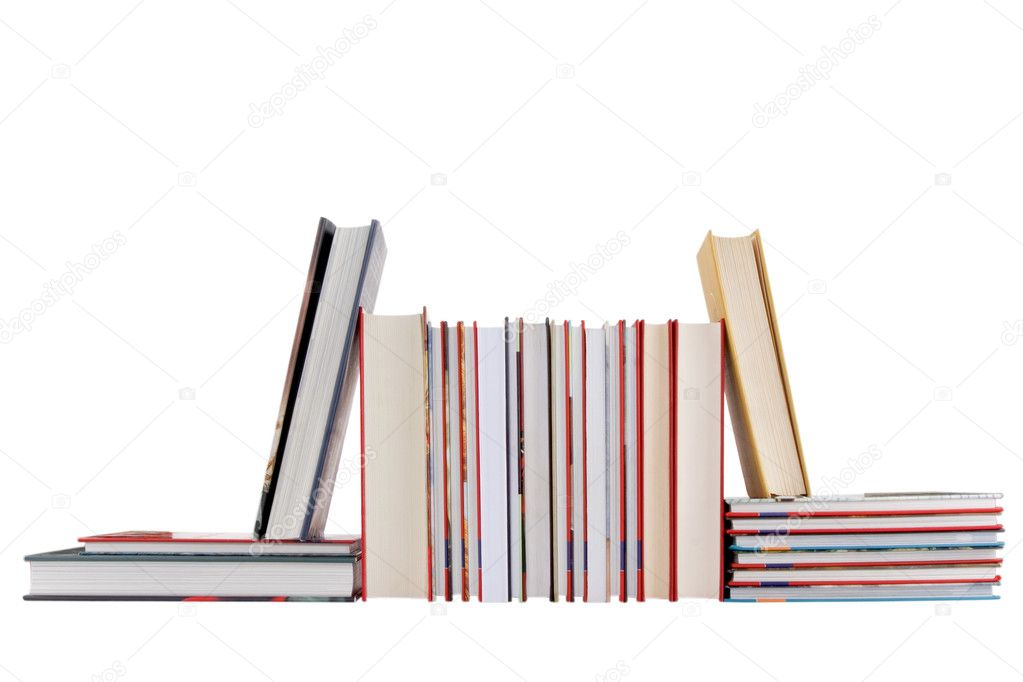 Front view of books on white background  — Stock Photo #6026760