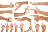Woman hand gestures — Stock Photo