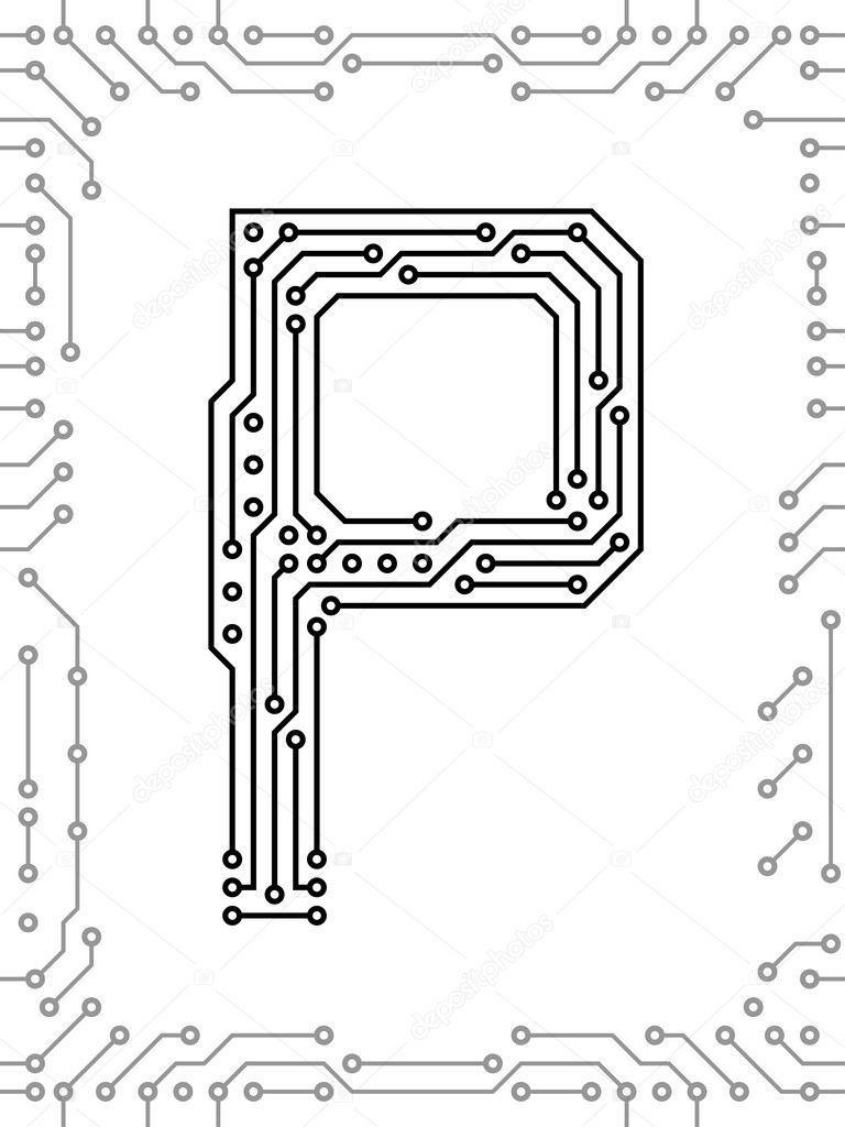 alphabet of printed circuit boards  u2014 stock vector  u00a9 ivn3da  6120660