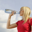 Young woman drinking water — Stock Photo #5405592