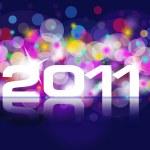 nieuwe jaar kaart 2011 — Stockfoto