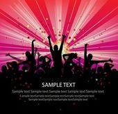 Set of group peoples dance vector. flyer.vector — Stock vektor