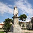 Statue of Girola o Savonarola in Florence Italy — Stock Photo