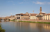 View of the River Arno in Florence Italy — Stock Photo