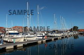 Luxury Yachts in Weymouth Harbour in Dorset — Stock Photo