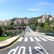 Stock Photo: New road and bridge over golf course in Spain