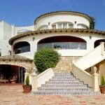 Stunning exterior of luxury villa in Spain — Stock Photo