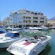 Boats and Yachts in Benalmadena Port - Stock Photo
