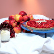 Food neatly arranged at five star hotel — Stock Photo #6232208