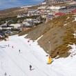 Stock Photo: ski slopes of prodollano ski resort in spain