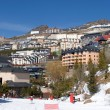 Town of Prodollano ski resort in Spain — Stock Photo