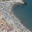 Aerial view of beach on Gibraltar — Stock Photo