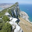 View of tip of Rock of Gibraltar - Stock Photo