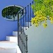 Steps of house in Spanish Pueblo — Stock Photo