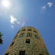 Moorish lookout tower in Puerto Banus Spain - Stock Photo
