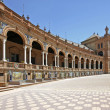Plaza de Espana in Seville, Andalucia, Spain - Stock Photo