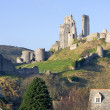Stock Photo: Corfe Castle, in Swanage, Dorset, Southern England