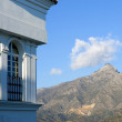 Building and mountain views of Aloha Pueblo in Spain — Stock Photo