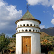 Stock Photo: Bird tower or dovecot on sunny Spanish mountainside